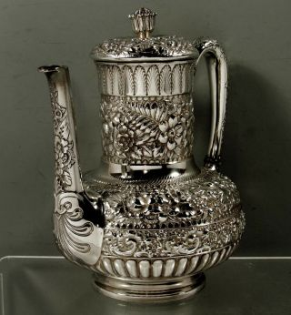 Tiffany Sterling Silver Coffee Pot 1889 Moorish Design