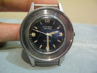 Vintage Stainless Blancpain Aqua Lung Fifty Fathoms 1000 Feet Divers Watch 3463