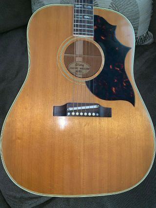 Artist - Owned Vintage 1964 Gibson Country Western W/ Orig.  Case & Autograph