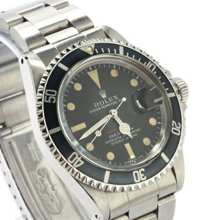 Vintage Rolex Submariner ref.  1680 Red Dial Stainless Steel Watch 1970 3