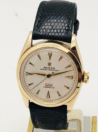 Vintage Rolex 14k Gold Oyster Perpetual Automatic Watch Ref.  6084 C.