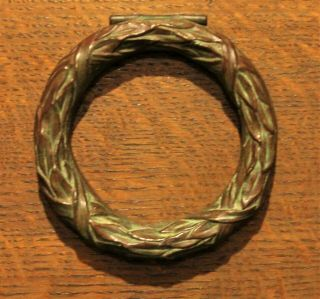 Antique Tiffany Studios Bronze Laurel Wreath Door Knocker 1066 York Rare
