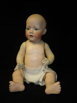 "20 "" Antique German Bisque J.  D.  Kestner "" Hilda "" Baby Doll"