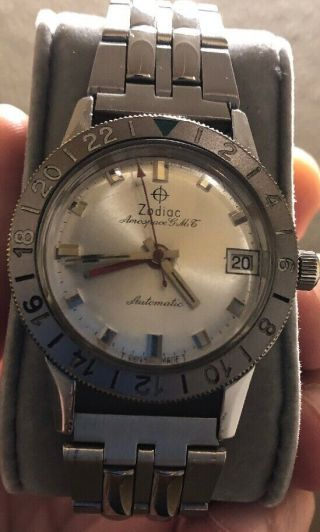 Vintage Zodiac Aerospace Gmt Automatic Men