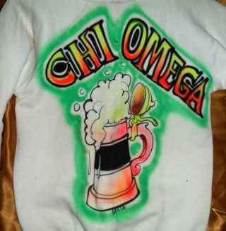 Rare Vintage 1960s Stanley Mouse Hand Airbrushed Shirt Chi Omega Fraternity