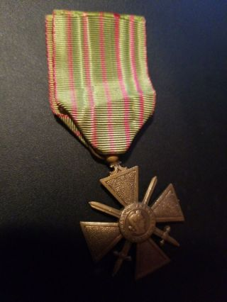 Ww1 1914 - 1918 Croix De Guerre Military Medal - - See Our Ww1 Store/