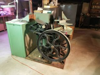 Chandler And Price 8x12 Antique Letterpress Printing Press.