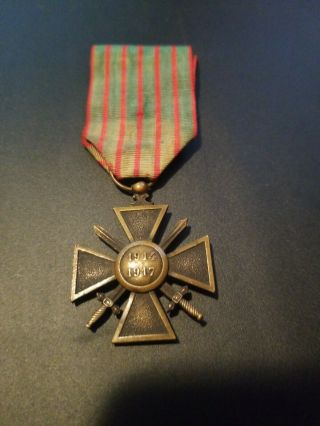 Ww1 1914 - 1917 Croix De Guerre Military Medal - - See Our Ww1 Store/