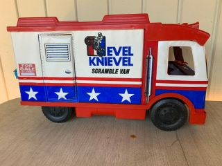 Evel Knievel Scramble Van By Ideal With Many Accessories