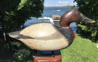 Vintage Mason Premier Can Drake Hollow Duck Decoy Untouched Paint Wow