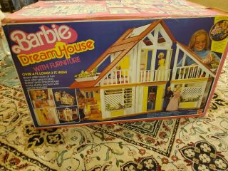 Vintage 1978 Barbie Dream House With Furniture,