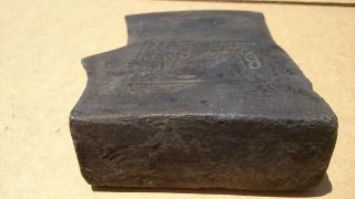 ANTIQUE EMBOSSED RARE KELLY BLACK RAVEN AXE HEAD JERSEY PATTERN AXE 7