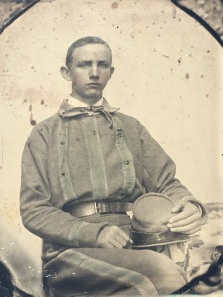 Rare Confederate Soldier Ambrotype Possibly Tennessee