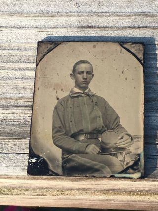 Rare Confederate Soldier Ambrotype Possibly Tennessee 2