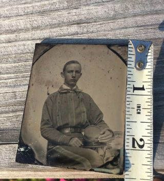 Rare Confederate Soldier Ambrotype Possibly Tennessee 5