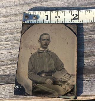Rare Confederate Soldier Ambrotype Possibly Tennessee 6