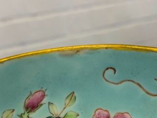 Antique Chinese DA YA ZHAI Porcelain Compote with Grape & Floral Dec.  Marked 12
