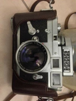 Rare Leica M3 Single Stroke Transitional Camera,  Leica Seal Intact & Lens Outfit