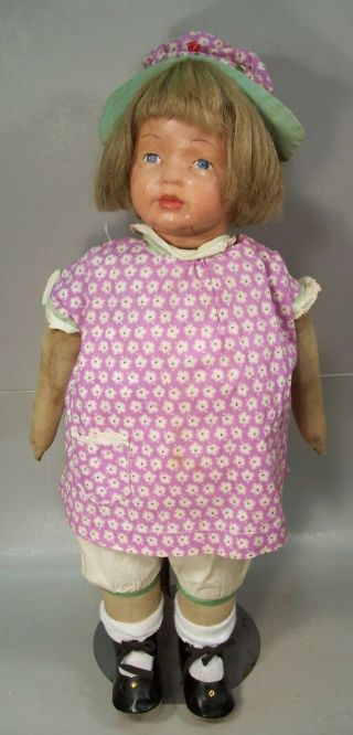 Antique 18 Inch Kamkins Cloth Doll