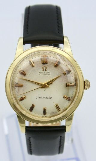 Vintage 1958 14k Gold Omega Seamaster Watch Automatic Men
