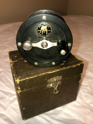 Vintage Pflueger Golden West 80 Yard Fly Reel With Box Wow