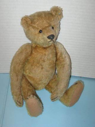 "Vintage Steiff 12 "" Mohair Teddy Bear Shoe Button Eyes 4mm Ff Button In Ear"