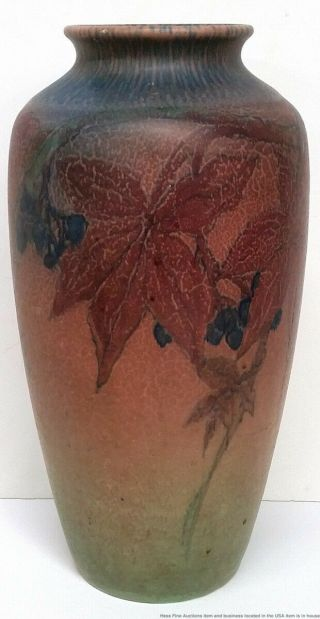 Antique Rookwood Elizabeth Lincoln Arts Crafts 614c Matte Art Pottery Vase 1926