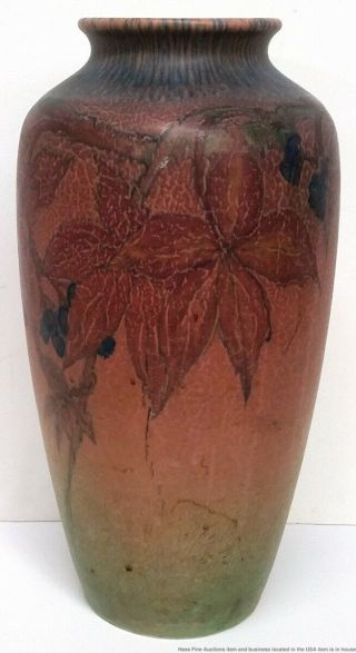 Antique Rookwood Elizabeth Lincoln Arts Crafts 614C Matte Art Pottery Vase 1926 2
