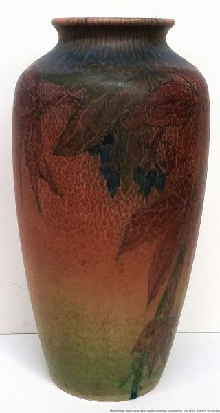 Antique Rookwood Elizabeth Lincoln Arts Crafts 614C Matte Art Pottery Vase 1926 4