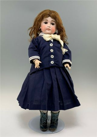 "24 "" Closed Mouth Kestner Antique Bisque Doll"