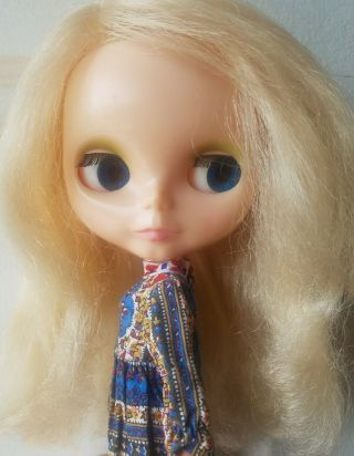 1972 Vintage Kenner Blythe Doll Blonde 6 Line Beauty