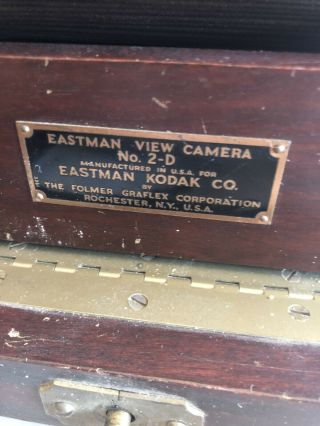Antique Eastman View Camera No.  2 - D For 8x10 Prints With Accessories