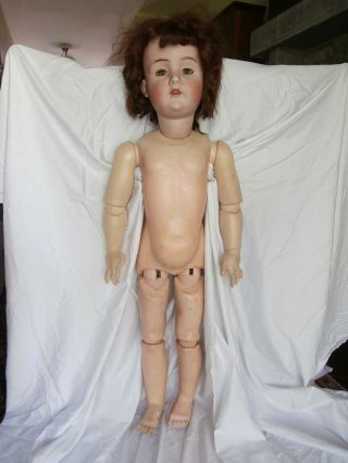 "Very Large 41 "" Antique German Bahr Prothschild 478 Bisque Head Doll"
