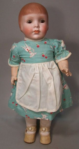 Wonderful 14 Inch Grace Corey Rockwell Bisque Head Doll - - Pretty Peggy - 1920