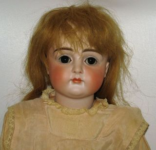 Very Early Kestner Closed Mouth Bisque Head Doll Sleep Eyes For French Market