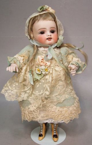 "Fabulous Antique German "" Wrestler "" All Bisque 9 Inch Doll By Kestner"