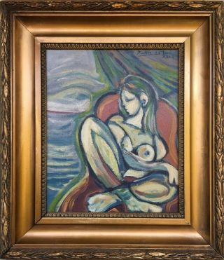 Picasso Signed Antique Oil / Canvas Painting French?