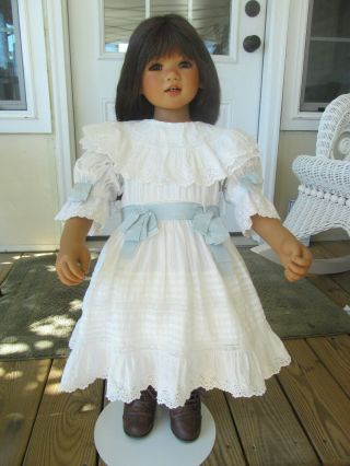 Annette Himstedt Setina.  Gorgeous Doll And The Antique Outfit Is From Paris
