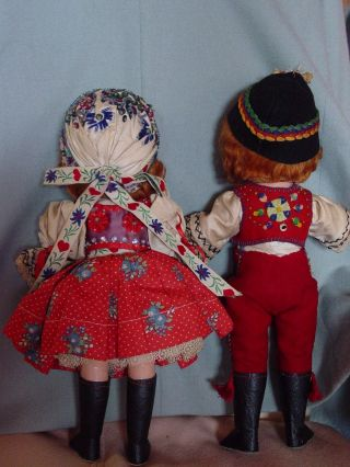 IDEAL VINTAGE COMPOSITION IDEAL GINGER SHIRLEY TEMPLE DOLL PAIR RARE COSTUME 2
