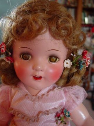 IDEAL VINTAGE COMPOSITION IDEAL GINGER SHIRLEY TEMPLE DOLL PAIR RARE COSTUME 8