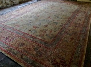 Large John Lewis Oriental Wool Rug By Handmade Carpets Ltd Floral Royal Keshan