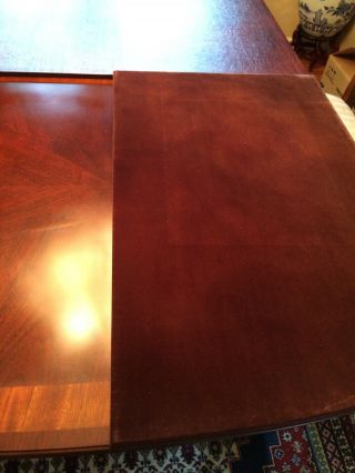Antique dining room with 2 extender leaves,  set 8 chairs and table protector top 2