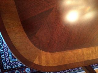 Antique dining room with 2 extender leaves,  set 8 chairs and table protector top 4