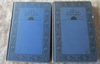 Napoleon Hill The Law Of Success 2 Hb Blue Cloth 1928 Vol.  Iii And Vii Vintage