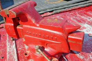 Vintage Craftsman Swivel Base Bench Vise 506 - 51810 - Made In Usa - 42 Lbs.