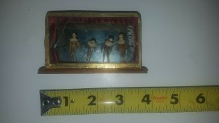 Antique Miniature Dollhouse Furniture.  Wood And Glass