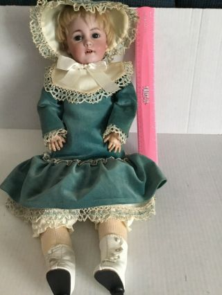 Vintage Doll 1279 Germany Halbig S&h 8 With Open/close Eyes And 2 Teeth