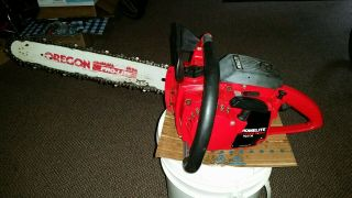"""Vintage Homelite Big Red Xl Chainsaw With 15 """" Bar & Chain"""