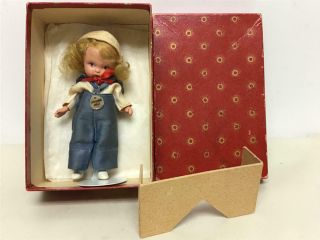 "Rare Vintage Nancy Judy Ann Storybook Sport Series "" Sailing "" Doll W/sunburst Box"