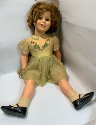 Vintage Ideal Shirley Temple Playpal Doll St - 35 - 38 - 2 Twist Wrist
